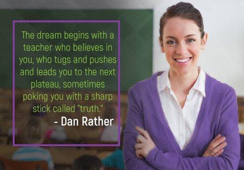 Dan Rather Quotes on Teachers