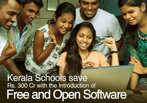 Kerala Schools save Rs. 300 Cr with the Introduction of Free and Open Software