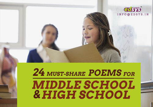 poems for middle school and high school
