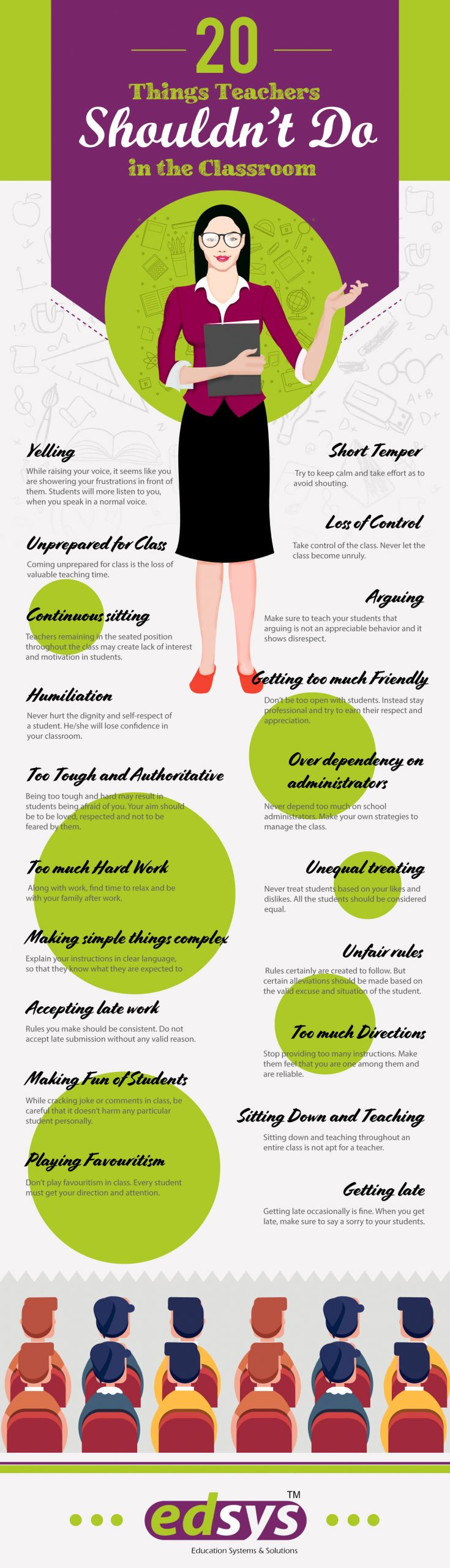20-Things-Teachers-Shouldnt-Do-in-the-Classroom Infographic