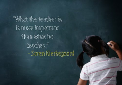 What the teacher is, is more important than what he teaches.
