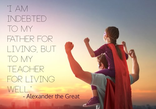 Alexander The Great Quote on Teaching