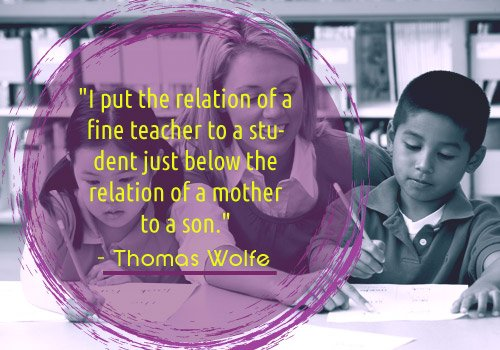 Thomas Wolfe Quote on Teacher-student relation