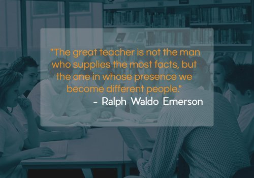 Ralph Waldo Emerson Quote on Teachers