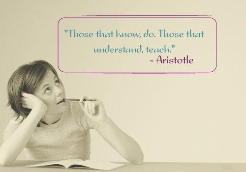 Aristotle Quote on Teaching
