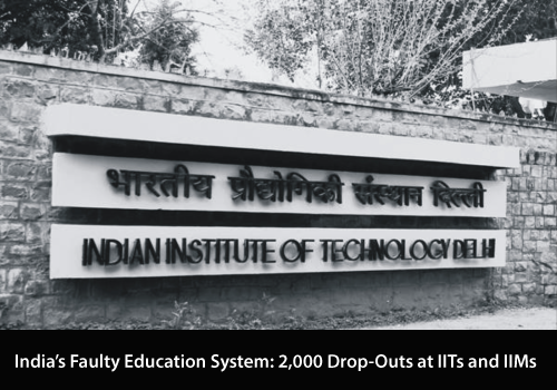 Drop Outs Increasing Over the Years at IITs and IIMs Hit 2000 between 2014 and 2016