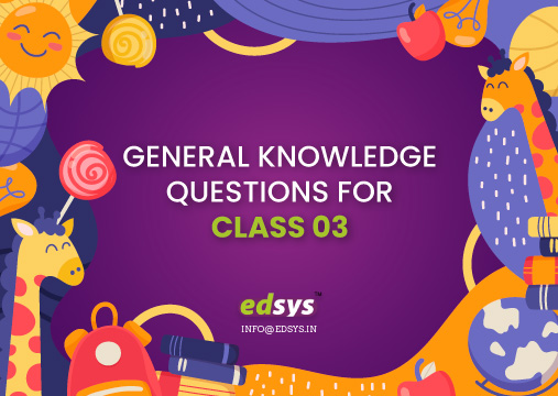 GK Questions For Class 3