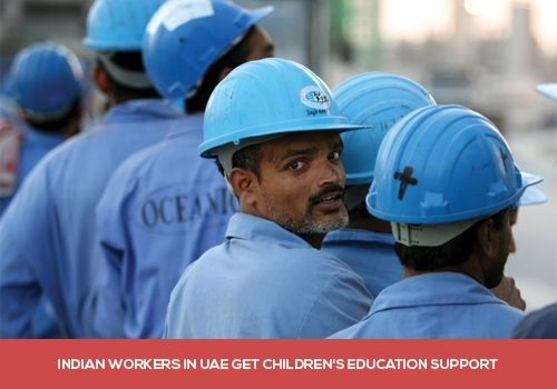Indian Workers in the UAE Gets Education Support for Children