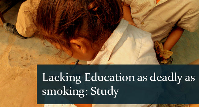 Lack Of Education As Deadly As Smoking Edsys