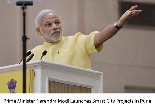 PM Narendra Modi Launches 14 Smart City Projects in Pune