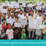 Parents Protest Strongly Against Commercializing School Education in Ludhiana!