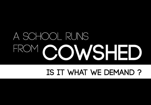 Primary School in Education Minister's Home District Runs from a Cowshed