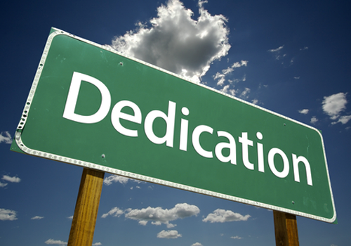 Be more dedicated to making solid achievements