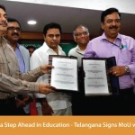 Taking  a Step Ahead in Education – Telangana Signs MoU with ISRO