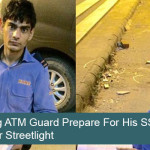 Young ATM Guard Prepare For His SSE Exam under Streetlight