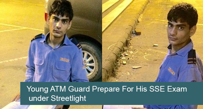 Young-ATM-Guard-Prepare-For-His-SSE-Exam-under-Streetlight